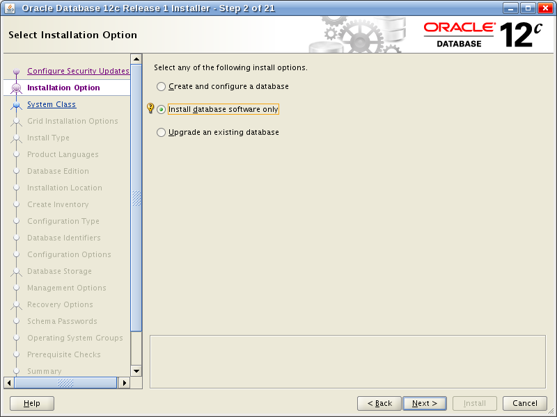 Oracle Database 12c Release 1 Installer - Step 2