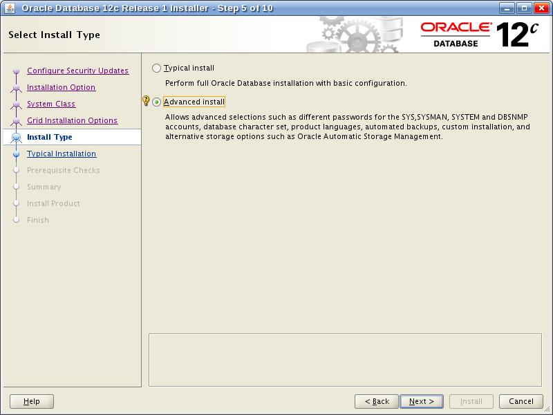 Oracle Database 12c Release 1 Installer - Step 5