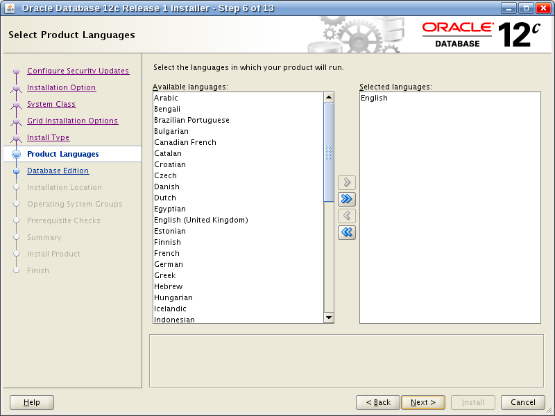 Oracle Database 12c Release 1 Installer - Step 7
